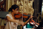 Violinista en la catedral de Dublín